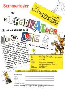 Einladung Sommerlager 2012